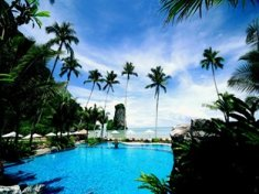 The swimming pool at the Centara Grand Beach Resort and Villas is great for the children to splash around in all day
