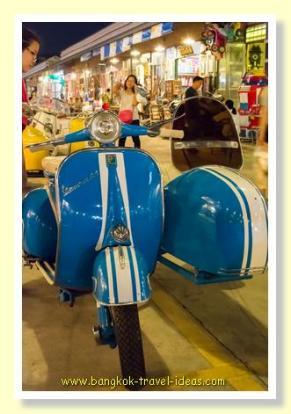 Lambretta scooter Bangkok train market