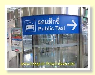 Bangkok Airport public taxi to Pattaya