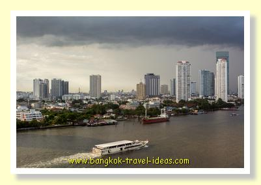 Bangkok storm over the Chao Phraya River