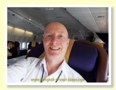 First Class Seat on Thai Airways