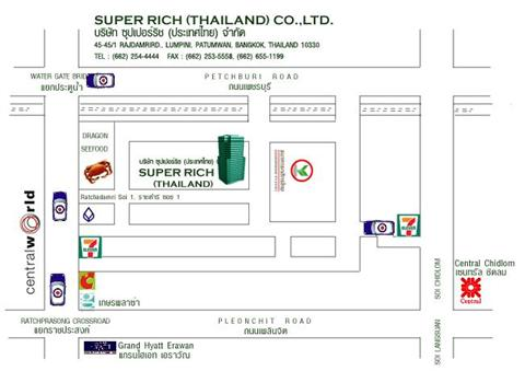 Map of Superrich Thailand in Pratunam