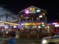 Koh Samui street at night