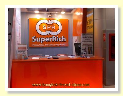 Bangkok Airport currency exchange