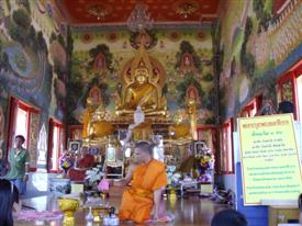 Thailand Buddhist temple at Amphawa
