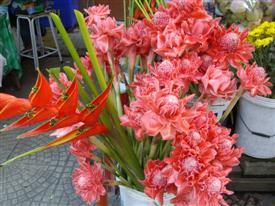 Amphawa market flowers