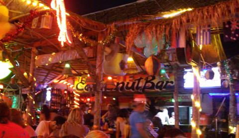 The Coconut Bar in Ao Nang. Somewhere to relax on the last night in Krabi province.