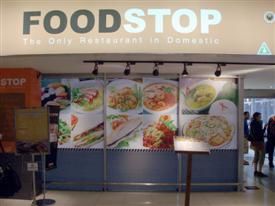 The Foodstop restaurant in Bangkok airport is where domestic passengers can fill up