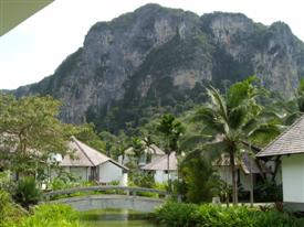 Mountain in Krabi at the rear of Ao Nang town