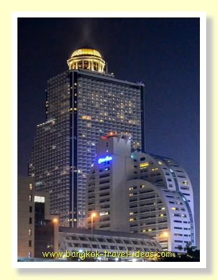 Lebua Hotel from the Chao Phraya River