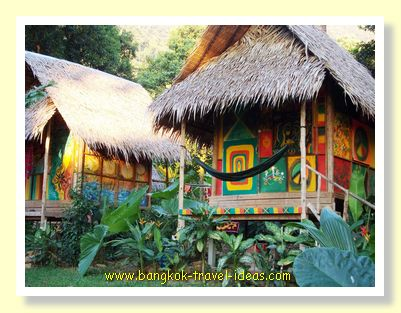 Cheap backpacker huts on Koh Chang at Tarzan Island, Bailan