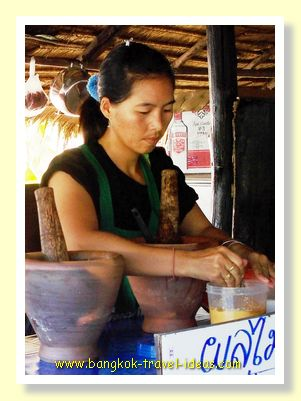 Cooking Thai food in Bailan, Koh Chang