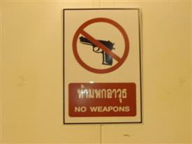Bang Pu army base no guns allowed