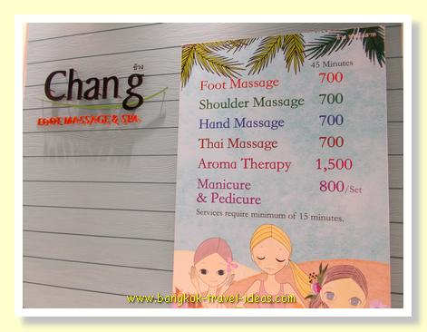 Chang Foot Massage and Spa at Bankgok Airport