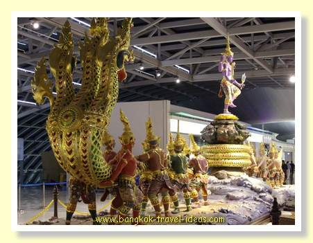Churning of the Milk Ocean at Bangkok Suvarnabhumi Airport