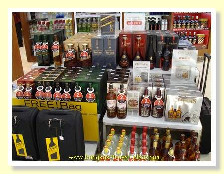 Duty free goods at Bangkok Suvarnabhum Airport