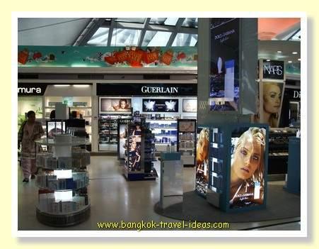 Duty free perfumes at Bangkok Suvarnabhum Airport