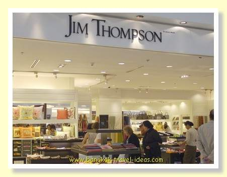 Jim Thompson for silk at Bangkok Airport. Huge range