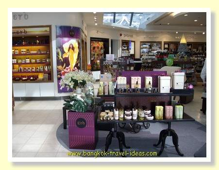 Perfume and toiletries at Suvarnabhumi Airport