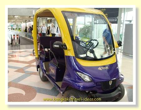 Thai Airways electric buggy for First Class passengers