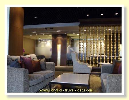 Thai Airways First Class lounge at Bangkok Airport