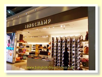 The Longchamp store in Bangkok Airport