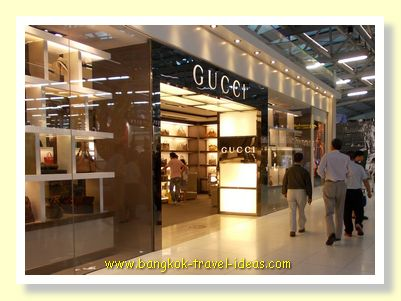 The Gucci store in Suvarnabhumi Airport