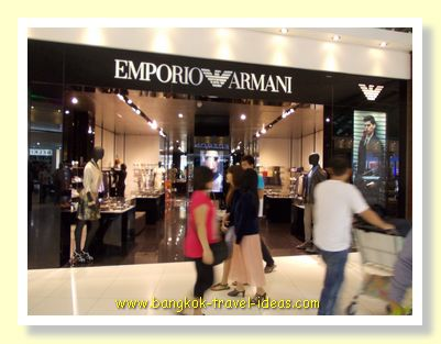 Armani has a great selection at Bangkok Suvarnabhumi Airport