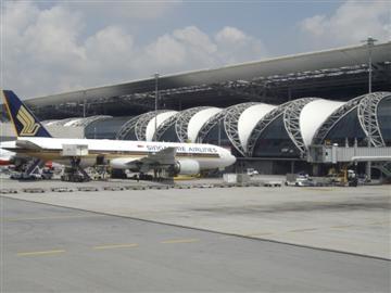 Bangkok Airport international terminal arrivals