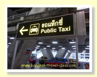 Bangkok Airport taxi sign