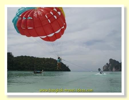 Paragliding at Phi Phi island