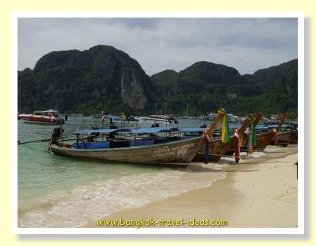 Phi Phi island beach just near where the Ao Nang Princess ferry boat berths