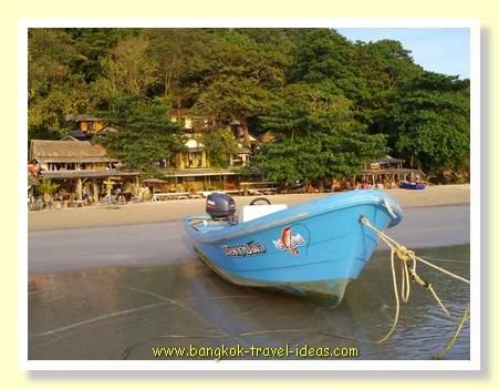 Fishing boat on Whitesand Beach Koh Chang