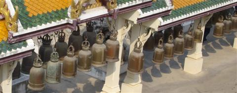 Bangkok temple bells ring out for good luck