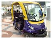 Thai Airways First Class passenger's electric car at Suvarnabhumi Airport