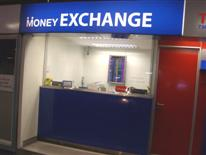 Currency exchange booth located at Phrom Phong BTS station
