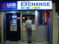 UOB currency exchange booth