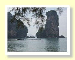 Ao Nang beach boats