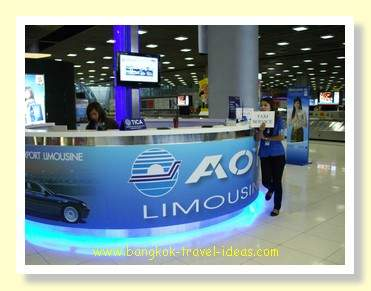 Bangkok Airport limousine booking counter