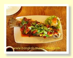 Big fish with Chilli sauce, not too spicy