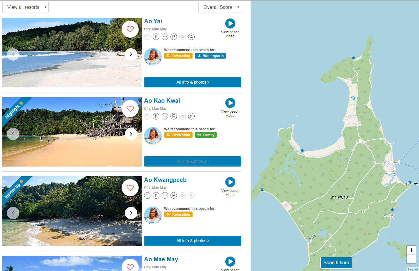 Find an Agoda hotel using the Beach Inspector website
