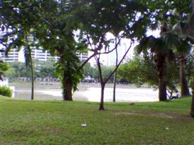 Lake at Benjasiri Park Sukhumvit