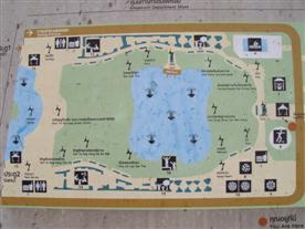 Benjasiri Park map showing the features of Benjasiri Park
