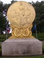 Benjasiri Park artwork in the grounds