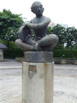 Benjasiri Park Thai boy sculpture