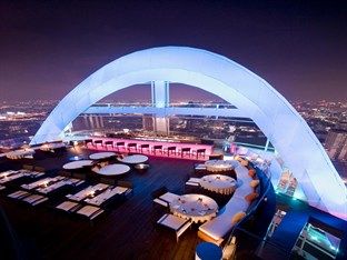 Dine on the rooftop bar and take in the evening views