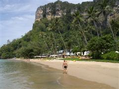 The beach at the Centara Grand Ao Nang doesn't seem to have a name