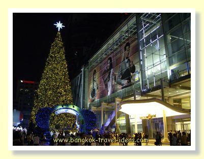 Bangkok shopping mall at Christmas