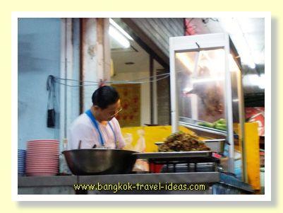 Thai noodle shop at Christmas