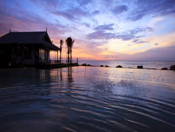 Sunset at the Devasom in Hua Hin Cha Am